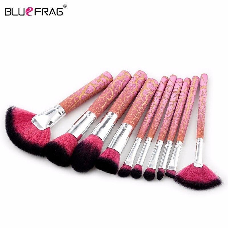 Bluefrag 10 шт. комплект набор кистей для макияжа Высокое качество maquiagem Основа Мощность тени смешивание контур косметические Красота инструмен...