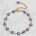 Evil Eye jewelry Bracelet Gold Plated Colorful Enamel Evil Eye Chain Bracelet Bangles Jewelry Womens Evil Eye Jewelry Bracelets