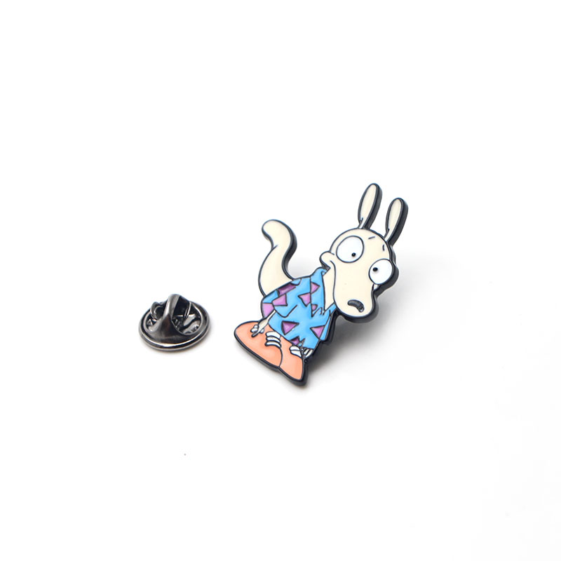 Cartoon cute Modern Life Zinc alloy tie pins badges para shirt bag clothes cap backpack shoes brooches badges decorations E0404 in Badges from Home Garden
