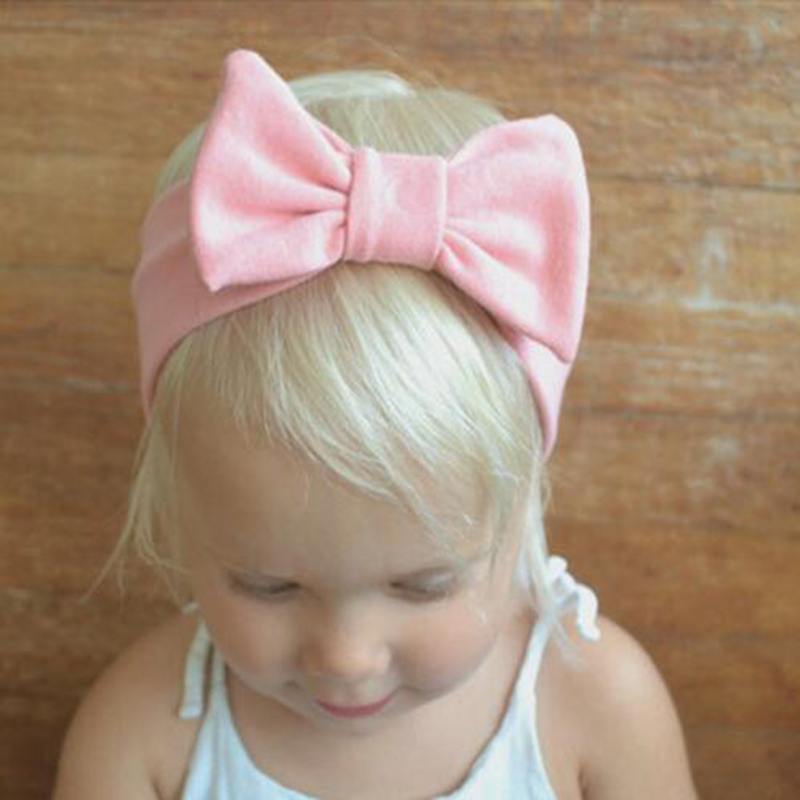JRFSD Cotton Knot Elastic Headband for Girls Wide Hair Bands Aksesori - Aksesori pakaian - Foto 2