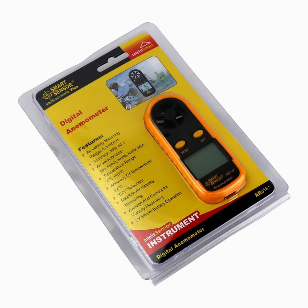 Medidor de velocidad de viento portátil Anemómetro Termómetro - Instrumentos de medición - foto 6