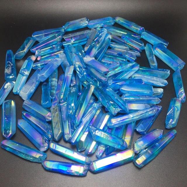Baguette à points de flamme aura 100g   Bleu arc-en-ciel, flamme bleue, quartz