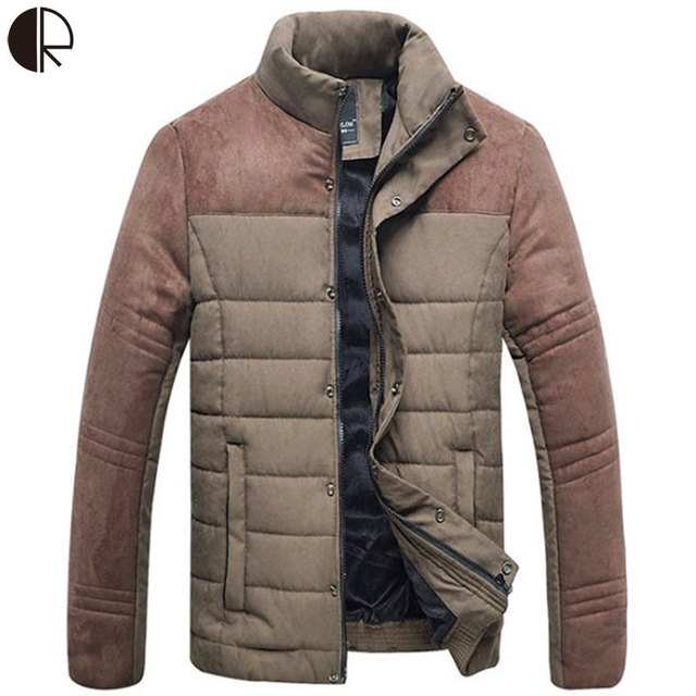 2016 Thick Warm Winter Men Winter Jacket parka Duck Down Jacket Male Solid Coats Mens casual Slim Outwear Western Style MC1017