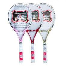 Eenegy composite audlt tennis racket strung tennis racquet for beginner practic tennis racquet with full cover