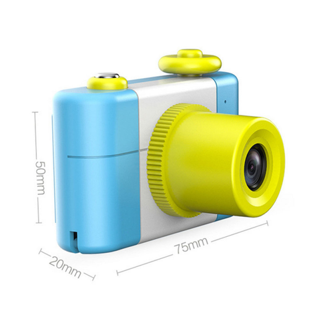 Cute Pink Blue 5MP 1080P HD 1.5 Inch Screen Mini Kid Children Camera Cartoon Digital Small SLR Camera Toy Gift