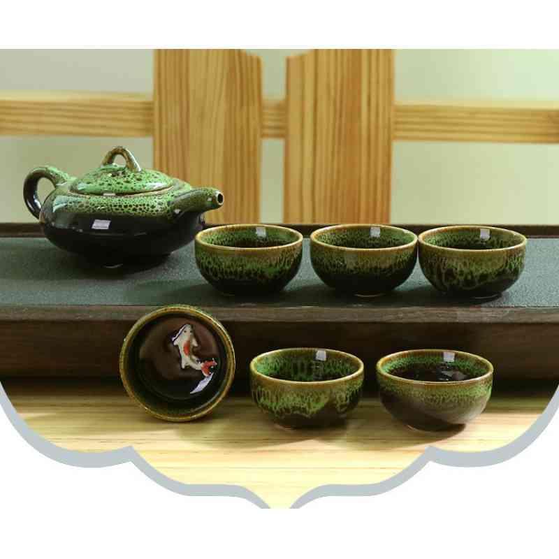 Chinese Kung Fu Tea Set Portable Teaware Set Ceramic Teapot Teaset Gaiwan Tea Cups Of Tea Ceremony Tea Pot Purple Gaiwan Gifts in Teaware Sets from Home Garden