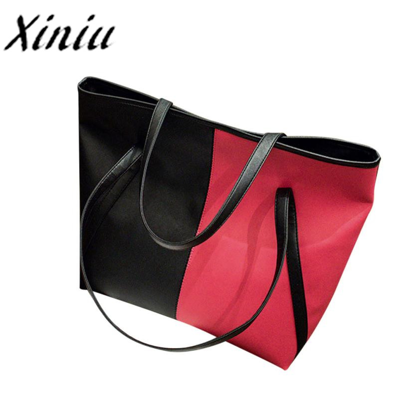 Xiniu Leather striped bag tote for women Hit Color Beach Bags Women Shopping Bag Handbags luxury handbags women bags designer#ls