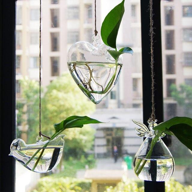 floreros de vidrio transparente bonsai floreros de la boda decoracin del hogar del arte decoracin colgar macetas macetas jarrones de cristal maceta - Jarrones De Cristal