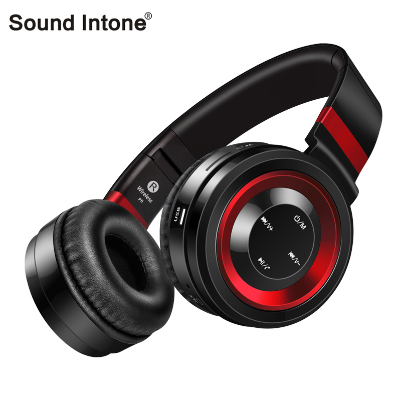 Sound Intone Bluetooth Headsets With Mic Support TF Card FM Radio Super Bass Music Wireless Earphone Headphones For Phones PC