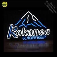 Kokanee glacier Beer neon Signs Glass Tube neon lights Recreation Windows Iconic Neon Light signs neon lights for sale