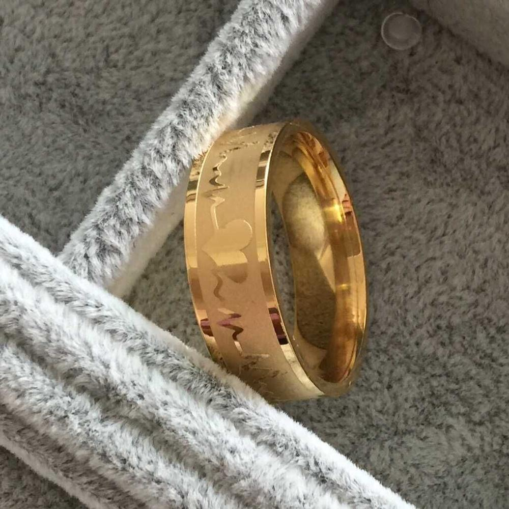 Fashion Love Heart Couple Ring For Women Men Wedding Engagement Rings  Wholesale Gold Filled Gold 316l