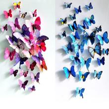 3D DIY Wall Sticker Autocollants décorations pour la maison 3d papillon stickers muraux Chambre Décorations décor à la maison(China)