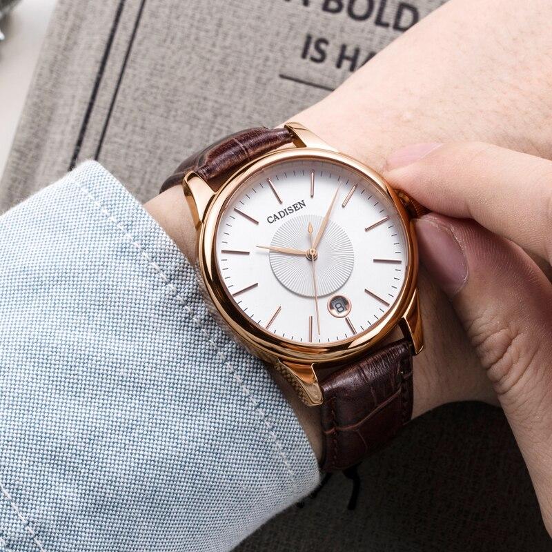 جديد رجالي ساعات الفاخرة أعلى العلامة التجارية CADISEN أزياء الميكانيكية ووتش الرجال عارضة الرجال التلقائي المعصم relojes hombre 2018-في الساعات الميكانيكية من ساعات اليد على  مجموعة 1