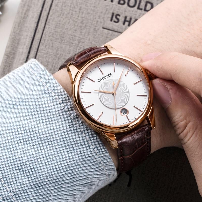 새로운 남성 시계 럭셔리 톱 브랜드 cadisen 패션 기계식 시계 남성 캐주얼 남성 자동 손목 시계 relojes hombre 2018-에서기계식 시계부터 시계 의  그룹 1