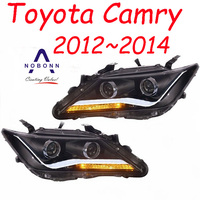 Bumper lamp for Camry headlight 2012 2013 2014year Camry taillight DRL Bi Xenon Lens High Low Beam Parking Fog