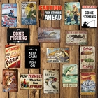 [ Mike Decor ] GONE FISHIN Hunting Metal Sign Vintage Gift Irregular Funny Wall Posters Home Store Party Room Club decor FG-245
