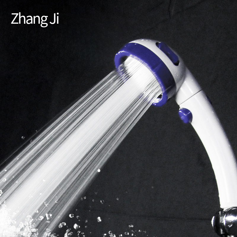 Zhang Ji 3 spray pattern handheld Shower Head with on/off switch high-pressure water saving Bathroom 3-function Shower HeadZhang Ji 3 spray pattern handheld Shower Head with on/off switch high-pressure water saving Bathroom 3-function Shower Head