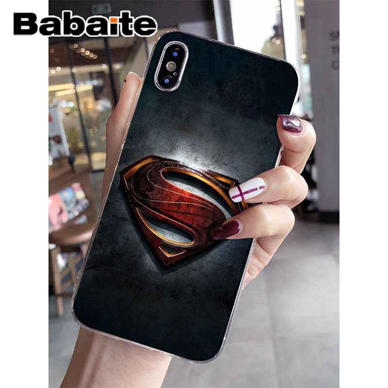 Babaite Deadpool Superman Homem De Ferro Marvel Avengers Caso Do Telefone Do Silicone para o iphone 8 7 6 6 S Plus X XS MAX 5 5S SE XR Cobertura Móvel
