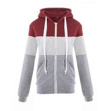 2018 Hoodies Women Casual Lady Sweatshirts Long Sleeve Loose All Match Pocket Autumn Winter Slim Patchwork Cute Hoodie Fashion