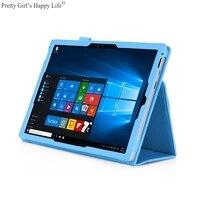 Voor Microsoft Surface Pro 3/Pro 4 12.3 ''Tablet Case Stand Flip Cover Microsoft Oppervlak Pro 3/4 12.3 Lederen Capa + Stylus