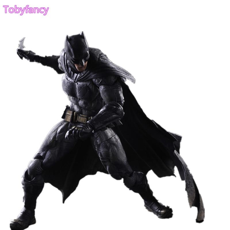 Play Arts Kai Batman Dawn of Justice PVC Action Figures Toy 260mm Anime Movie Model Toys PA Kai Heavily-armored Bat Man Figurine
