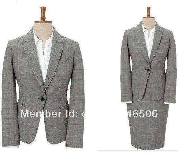 2016 Новый стиль на заказ пр одна кнопка нотч оптово-сшитое женская костюм мода юбка костюм женщин 3/1501