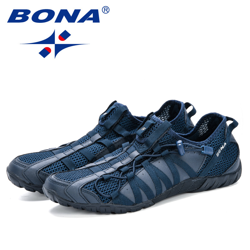 BONA 2019 New Popular Casual Shoes Men Lac-up Lightweight Comfortable Breathable Walking Sneakers Man Tenis Feminino Zapatos 3