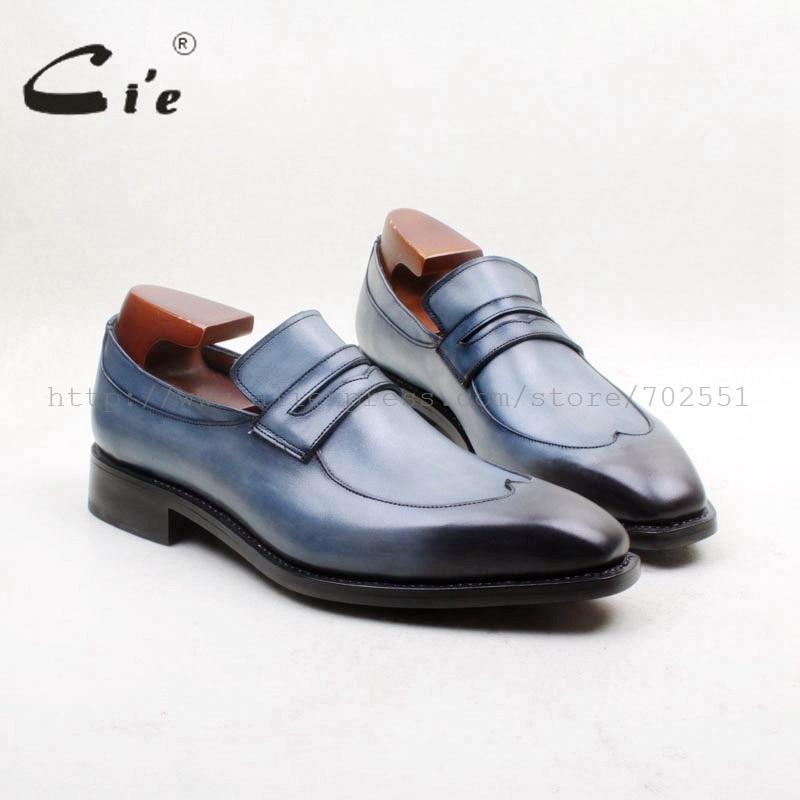Cie квадратный носок W-tips ручной работы слипоны 100% натуральная телячья кожа подошва дышащая мужская обувь на плоской подошве платье/Повседневная обувь loafer164/ 163