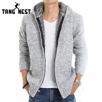 2015 Fur Inside Thick Autumn Winter Warm Outwear Jackets Hoodies Hodded Men S Casual 5 Color