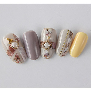 Image 2 - 1pc Snakeskin 3D Nail Art Stickers Marble Stone Grid Leopard Nail Sticker Decals Japanese Nail Accessories for Nail Decorations