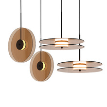 Apextech Postmodern LED Pendant Lights Novelty OREO Dining Room Lamp Living Bedroom Bedside Hanging Light
