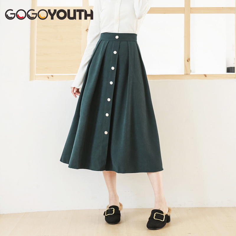 Surmiitro Long Summer Skirt Women 2019 New Cotton Korean Elegant High Waist Skirt Female Fashion Midi A-line Sun Shcool Skirt