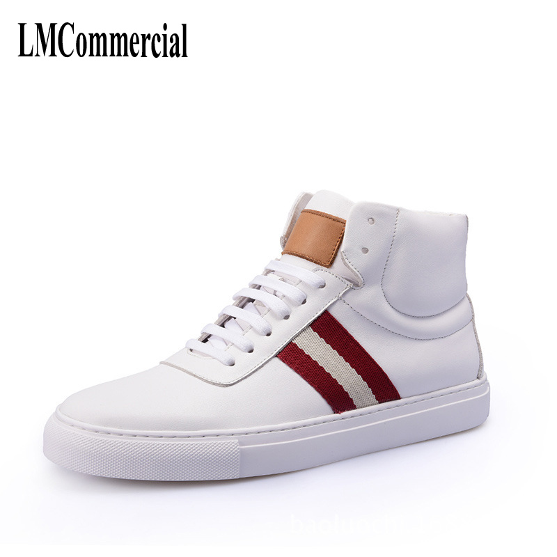 Men's winter all-match high supremen fashion leather shoes new autumn winter British retro men shoes breathable sneaker fashion 2017 new autumn winter british retro men shoes leather shoes breathable fashion boots men casual shoes handmade fashion comforta