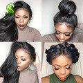 Бразильские Полное Кружева Парики Человеческих Волос Для Черных Женщин Бесклеевого Полный Парики шнурка Прямо Фронта Шнурка Человеческих Волос Парики С Волосами Младенца