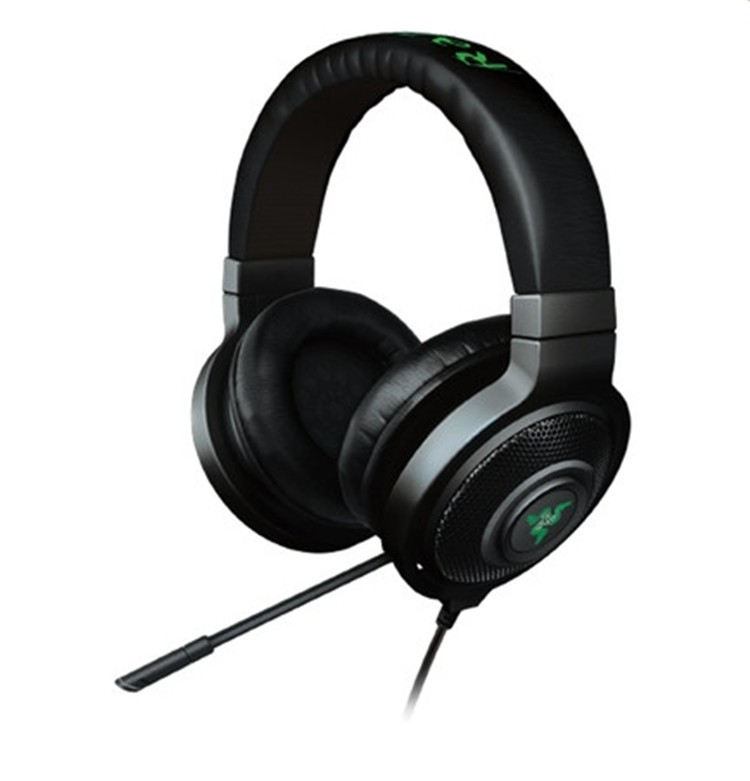 ФОТО With Microphone Pro Gaming original Razer Kraken Headset Earbuds Game Headphone Computer Earphone With Mic+BOX For DOTA2 CF LOL