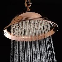 Luxury Rose Gold Brass Rain Shower Head Antique/ORB /Golden Top Rainfall Shower Head Water Saving Shower Heads Bathroom Accessor
