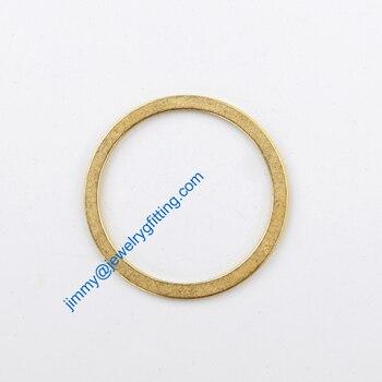 2000PCS Raw Brass Circle 25*1*2mm copper Rings jewelry findings Conntctors Quoit