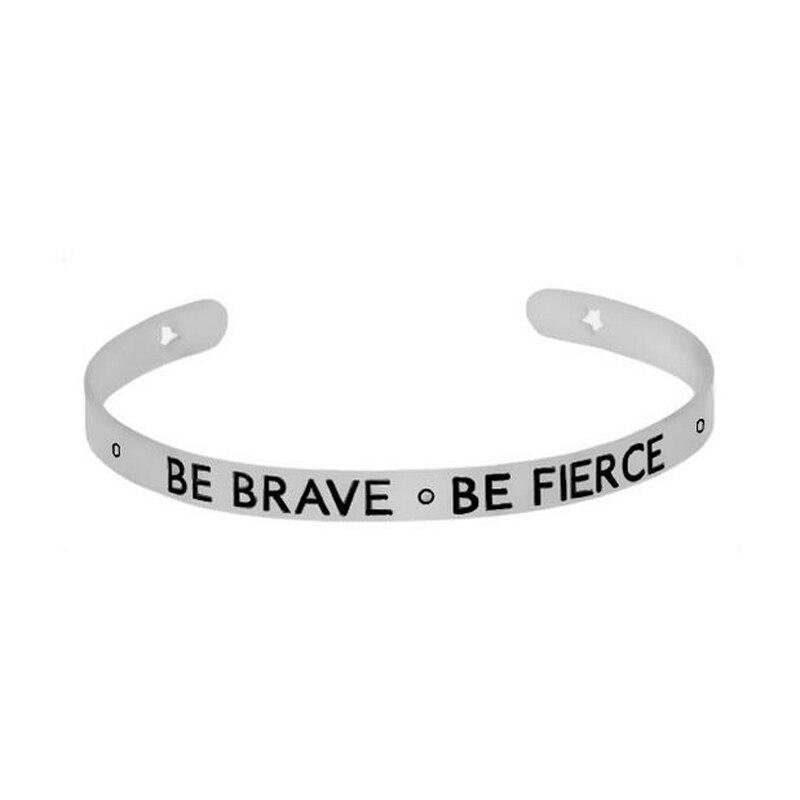 9pcs Love Bracelet Femme Rose/Gold/Silver Trendy Opening Bangles Inspirational Quote Mantra Bracelets for Women