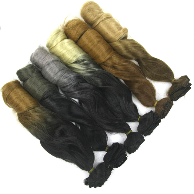 Soowee 7pcs/set Long Curly Black Gray Women Hair Synthetic Hair Clip In Hair Extension Full Head Hairpiece Cabelo 6
