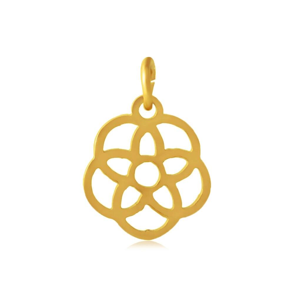 10pcs Wholesale Grace Moments Original Flower Pendant 3 Colors Cut Out Flower Stainless Steel Charm Fit Charm Bracelet