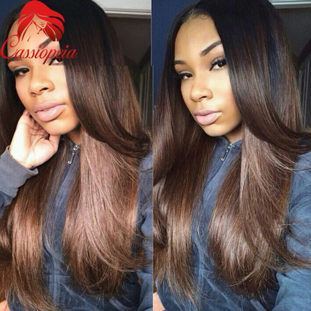 Prev Next Best Quality Ombre Two Tone Color Indian Hair Weft Deep Wave