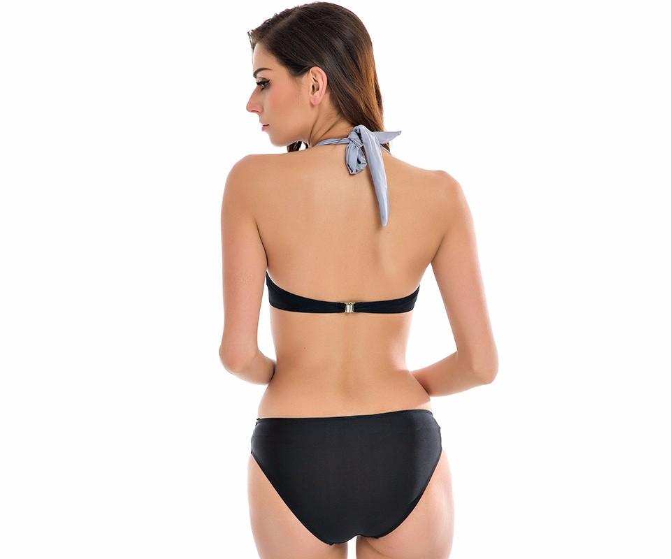 NAKIAEOI 19 New Sexy Bikinis Women Swimsuit High Waisted Bathing Suits Swim Halter Push Up Bikini Set Plus Size Swimwear 4XL 14