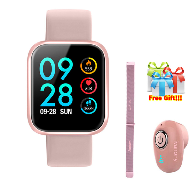 P70 Smartband +Strap+Earphone/Set Smart Bracelet Women Activity Tracker IP68 Waterproof Call Message Reminder For IOS Android image