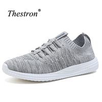 Thestron Walking Shoes For Men Breathable Shoes For Men Sports Summer Gym Shoes For Men Gray