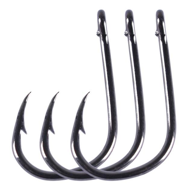 Anmuka 1200-1800Pcs/Box #3-16 Barbed Hook Fishhooks Fishinghook Black Bigger Fishing Hooks Freshwater Fish Hook Tackle