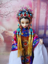 Original Design Ancient Chinese Doll With 12 Joints Moveable Traditional Chinese Peking Opera Doll Handmade Toy Gift 372