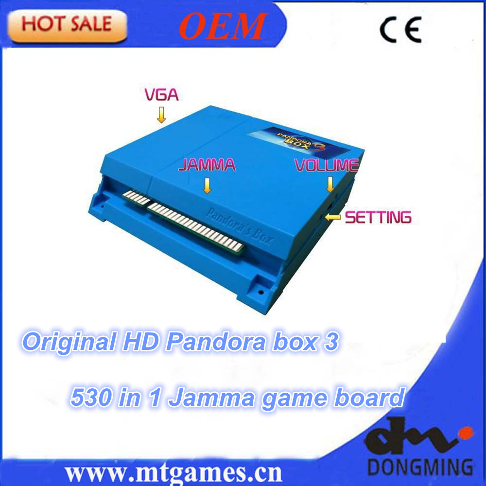 Origina HD Pandora Box 3 Jamma Multi Arcade Game cartridge support CRT and LCD for building bartop upright arcade and controller 815 in 1 original pandora box 4s plus arcade game cartridge jamma multi game board with vga and hdmi output
