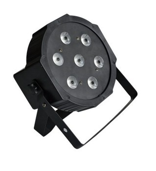 1PC Free Ship 7x9W RGB DMX Stage Lights Business Lights Led Flat Par High Power Light with Professional for Party KTV Disco DJ