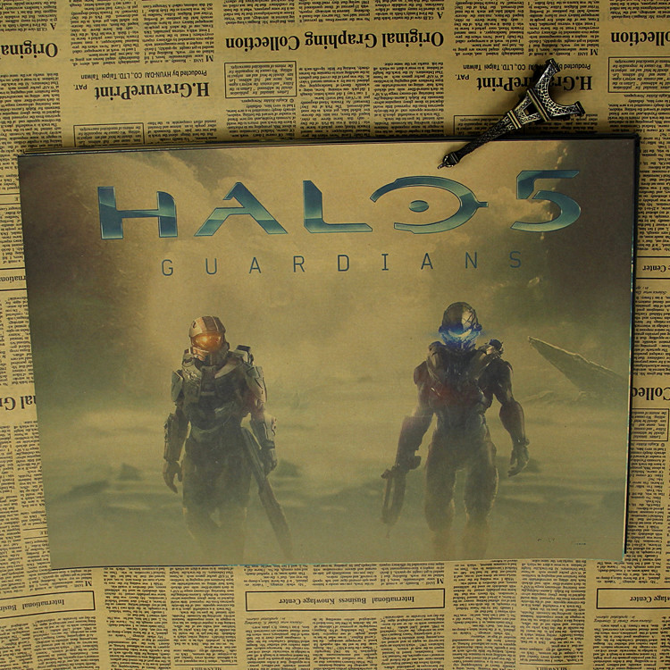 halo 5 game kraft poster Wars poster wall sticker