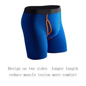 Image 4 - 5 Pcs/Lot Long Boxers Men Boxer for Men Cotton Soft Breathable Mens Underwear Men Boxershorts Male U convex US Size S M L XL XXL